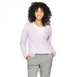 NWT A New Day Eyelash V-Neck Sweater XL Lavender